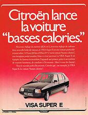 PUBLICITE ADVERTISING 104  1980  CITROEN  la VISA SUPER E basses calories