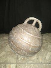 Vintage Antique Ball Mooring Buoy Float Spain Lighthouse Metal Nautical Decor