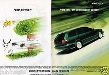 Publicité advertising 1998 (2 pages) Volvo S40 T4