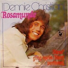 "DENNIE CHRISTIAN 'ROSAMUNDE' GERMAN IMPORT PICTURE SLEEVE 7"" SINGLE"