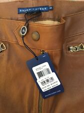 RALPH LAUREN COLLECTION Soft Leather Western Cowboy Equestrian Pant 14 NWT $1498