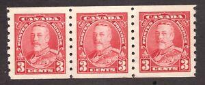 #230 strip - Canada -  1935  -  3 Cent  KGV -  MNH  - VF -  superfleas  cv $90