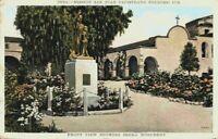 Serra Monument View Mission San Juan Capistrano California CA Vintage Postcard