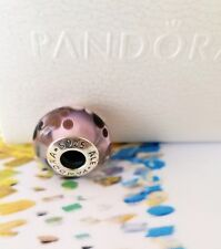 Authentic Pandora Disney, Mickey Mouse Icon Pink Murano Glass Parks Exclusive S
