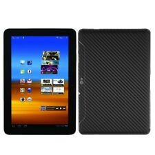 Skinomi Carbon Fiber Black Tablet Skin+Screen Guard for Samsung Galaxy Tab 10.1