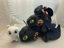 How to Train Your Dragon 3 III Light Fury Night Toothless Plush Soft Toy Doll