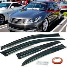 Fit 08-12 Honda Accord 4DR Sedan Mugen Style 3D Wavy Black Tinted Window Visor