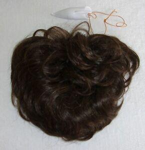 Women's Pull Thru-Hair Enhancer Open Weave Hairpiece- Chestnut Brown