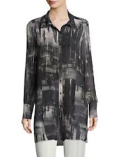 Go By Go Silk Go Sheer Button-Front Plaid Shirt