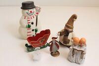 Weihnachtsschmuck Weihnachtsdeko Tischdeko Schneemann Engel Schlitten Mond