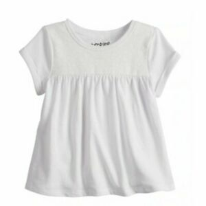 12 month girls Babydoll floral design on yoke white top Jumping Beans NWT
