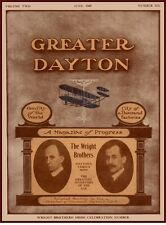 1909 WRIGHT BROTHERS CELEBRATION POSTER DAYTON OH CHAMBER OF COMMERCE AVIATION!