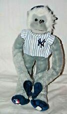 NY Yankees Baseball MLB Plush Monkey Gray Blue Cap Forever Collectibles - Mint!