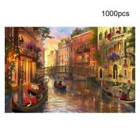 Adult 1000 Piece MINI Jigsaw Puzzle Sunset In Venice Toy Game Decompression K7I3