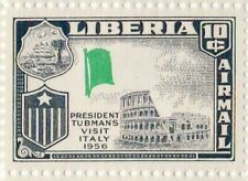 Liberia # C114 MNH Flag Error Missing Red Color Italy