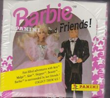 1992 BARBIE AND FRIENDS FACTORY BOXED TRADING CARD SET w/ STICKERS (SEALED)
