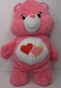 """Vtg Care Bear Love a Lot 2014 Edition Pink Hearts Care Bears LARGE 20"""""""