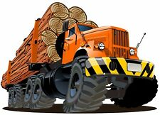 Monster Truck Logging Trailer Wall Graphic Decal Sticker Man Cave Garage Decor