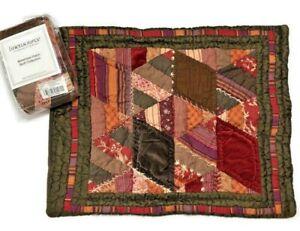 Bohemian Patchwork Standard Pillow Shams Crazy Quilt Farmhouse Cottagecore