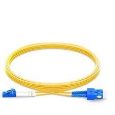 10m (33ft) LC UPC to SC UPC Duplex 2.0mm PVC 9/125 Single Mode Fiber Patch Cable