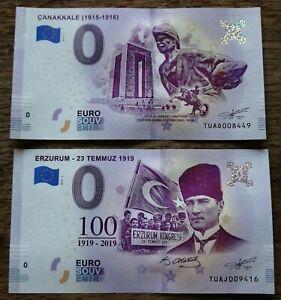 2 X 0 Euro Souvenir - TUAD en TUAJ - Different serial