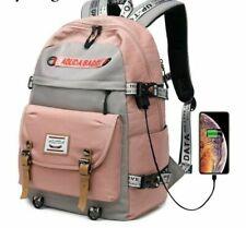 Large Capacity College Bags School Backpack Girls High School Bookbags USB Port