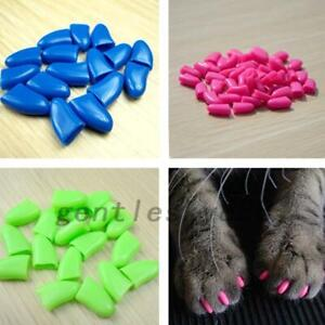 Pet Supplies Dogs Cats Claw Nail Caps Cover Scratch Proof Set