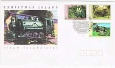 Christmas Island 1994 FDC 394-396 - Steam Locomotives
