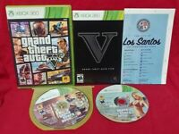 Grand Theft Auto 5 V  Microsoft Xbox 360 Game Tested  + Working w/ Map 1 OWNER