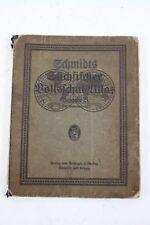 vecchio Atlante della scuola Atlas Libro testo Schmidt sassoni popolare