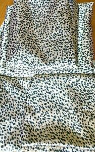 New Home Collection Leopard Print Sheet Set Polyester Satin Finish, Full Size