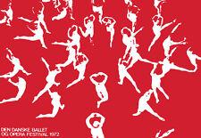 Art Poster - Danske Ballet - Opera - Dance Festival  A3  Print