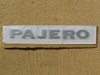 MITSUBISHI PAJERO SILVER LETTER BADGE Emblem *NEW* Fender Guard or Rear Badge