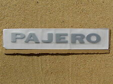 MITSUBISHI PAJERO SILVER LETTER BADGE Emblem *NEW* Fender Guard or Rear