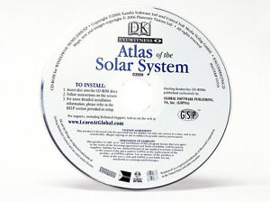 Atlas of the Solar System Windows 10 CD Computer PC Maps Planets Moons Geography