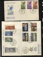 Cyprus 3 cachet covers, one cover Europa