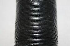 2mm-*Genuine* India Leather Cords - 100 Meter / Spool * Grl - Series * Black *