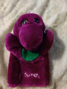Vintage 90's BARNEY Purple Dinosaur Hand Puppet Plush