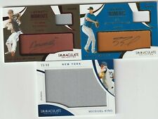 Lot Of Four (3) 2020 Panini IMMACULATE AUTO & Patch /49 /99 king burke munoz $$$