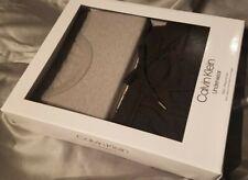 Calvin Klein Pajamas XL Gray Short Sleeve Crew, Black Drawstring Pants PJs