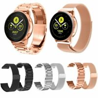 20mm Edelstahl Metall Armband Uhrenarmband Strap für Samsung Galaxy Watch Active