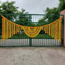 20 PC Indien Artificial Marigold Yellow And Mango Home Party Wedding Decoration