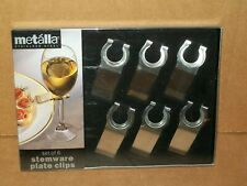 METALLA 6 PIECE STAINLESS STEEL STEMWARE PLATE CLIPS