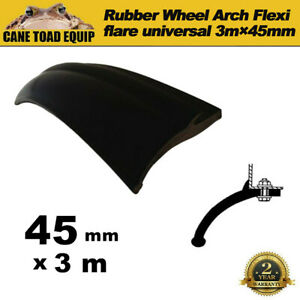 Rubber Wheel Arch Flexi flare Universal 3m x 45mm for Toyota Hilux Land Cruiser