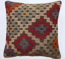 Kelim Kissen 40x40cm Kilim Cushion Kissenbezug Pillow Dekokissen Türkei Neu K744