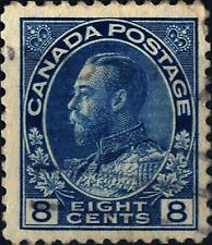 CANADA - 1918-1925 - Re Giorgio V  -  8 c. Blu