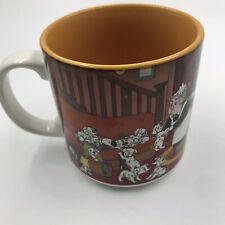 Vintage Disney Classics 101 Dalmations Ceramic Mug House Scene