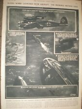 WWII How flying bombs were launched from aircraft 1944 prints Ref AP