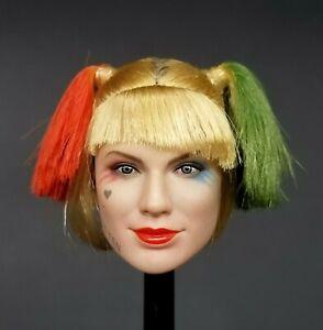 """1:6 Super Duck """"The Clown"""" Female Harley Quinn Head Sculpt 12"""" Phicen TBLeague"""