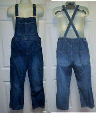 Mimi Maternity S Overalls Jean Denim Long Pants X back Bib Pockets